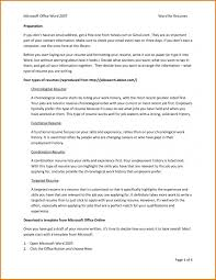 How To Get A Resume Template On Microsoft Office Word 2007 Office