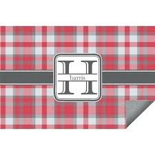 red gray plaid indoor outdoor rug personalized kitchen