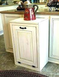 double tilt out trash can cabinet wooden bin box diy do