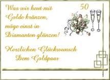 Goldene Hochzeit Glückwünsche