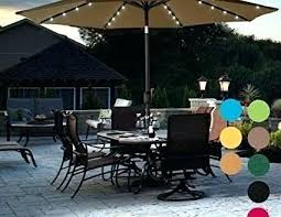 full size of patio umbrella with solar led lights costco for corliving powered home depot aluminum