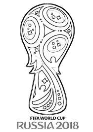 Disegno Del Logo Dei Mondiali Di Calcio Russia 2018 Da Colorare