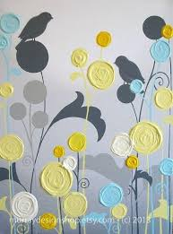 yellow and gray wall art wall art textured yellow grey and aqua flower a fresh new yellow and gray wall art