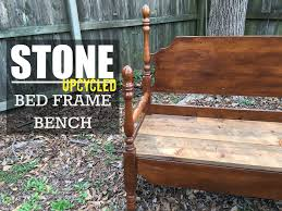Bench Out Of Headboard Build A Bench From An Old Bed Frame Wood Version Youtube