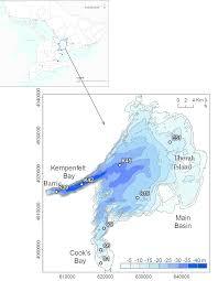 Lake Simcoe Depth Chart Bathymetry Of Lake Simcoe Ontario Canada Showing The 8