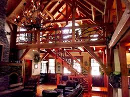 a frame house interior. craftsman-timber-frame-home-interior-antler-chandelier-camp- a frame house interior n