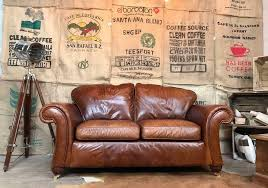 next vintage 2 seater sofa antique leather