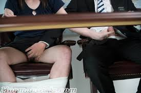 Hand job under desk