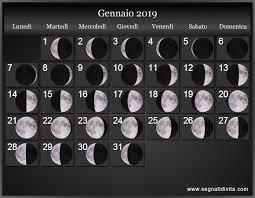 Calendario Lunare 2019 Fasi Lunari