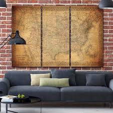 >vintage usa map canvas wall art circa 1900 holycowcanvas