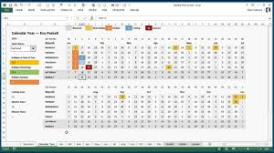 Annual Leave Chart 2018 Excel Holiday Training And Absence Planner For Excel