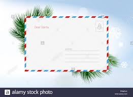 Greeting Card Samples Letter To Santa Claus Vector Christmas Greeting Card