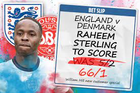 England Vs Denmark - Get Raheem ...