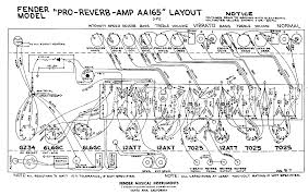 fender layout diagrams fender pro reverb aa165 layout diagram