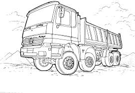 Dump Truck Coloring Pages Free To Print Coloringstar