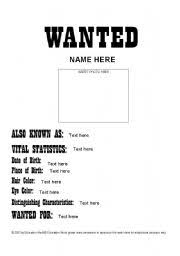Blank Magazine Article Template Wanted Ad Template