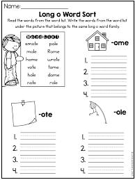 Long Vowel Worksheets (CVCE Worksheets) - Long O Activities | 2nd ...