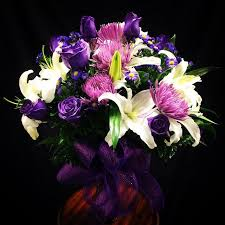 purple flower bouquet lavender white and purple flower bouquet in moreno valley ca