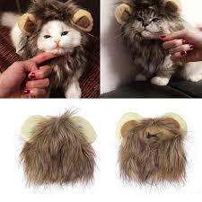 <b>Pet Cat Dog</b> Emulation Lion Hair <b>Mane</b> Ears Head Cap Autumn ...