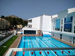 Half size Olympic 6 lanes heated swimming pool Picture of Hoposa