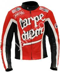 carpe m crazy horse red riding motorcycle leather jacket