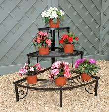 three tier decorative corner pot stand