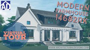 Architectural Designs Com Plan 14682rk Modern Farmhouse Plan With Vaulted Great Room And Kitchen
