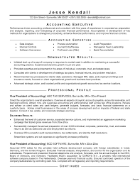 Accountants Resume Samples Accounting Examples For Chartered
