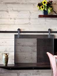 excellent inspiration ideas wood fireplace screens 14 beautiful sliding screen the barn door trend