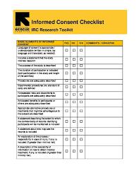 Irc Consent Form Checklist International Rescue Committee Irc