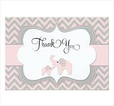 Thank You Template 8 Ba Shower Thank You Cards Design Templates Free
