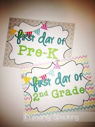 1st Day of School FREEBIE: Primarily Speaking | Mommy Solutions ...