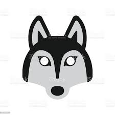 Dog Husky Mask Stock Illustration ...