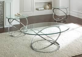 kind of round glass coffee table