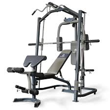 Marcy Smith Mp3100 Machine Home Gym With Weight Bench Black One Size