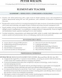 Sample Educator Resumes Samples Of Teachers Resumes Trezvost