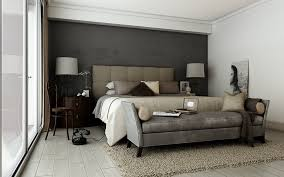 Bedroom:Futuristic Bedroom Design With Drum Shape White Double Table Lamp  And Grey Accent Wall