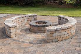 tegula 40 fire pit kit paving