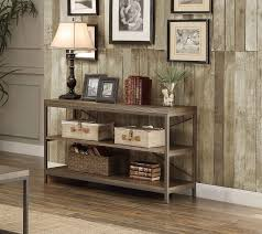 Framing A Tv Homelegance Daria Sofa Table Tv Stand Weathered Wood Table Top