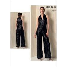 Jumpsuit Pattern Vogue Inspiration Misses Sleeveless WideLeg Jumpsuit Vogue Sewing Pattern 48 Sew