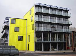 container office building. The Riverside Building In London Container Office
