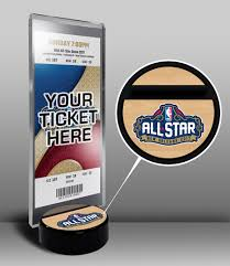 Football Stands Display 100 NBA AllStar Game Ticket Display Stand New Orleans 86