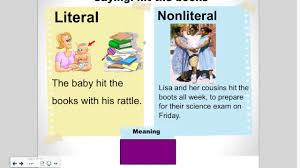 literal language literal vs nonliteral language