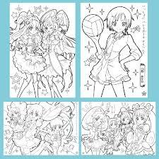Tranh tô màu Anime CHIBI - Khổ A4, A5-Giấy vẽ dày đẹp, thích hợp màu chì,  dạ, màu nước