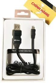 Cáp sạc nhanh Thông minh hiện thị đèn LED Micro USB Titan CI07 - Hàng chính  hãng - Dây cáp sạc Micro USB Nhãn hiệu TITAN
