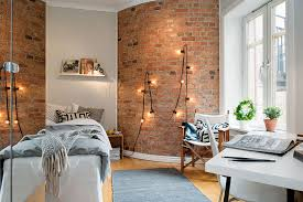Small Picture Interior Designs Stylish Exposed Brick Wall For Bedrooms Exposed