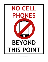 No Cell Phone Sign Printable Printable No Cell Phones Beyond This Point Sign