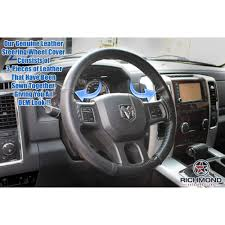 leather steering wheel cover driver black