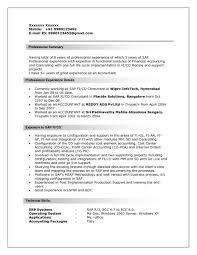 Sap Administration Sample Resume Resume Cv Cover Letter