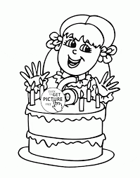 Small Picture Happy 6th Birthday Girl coloring page for kids holiday coloring